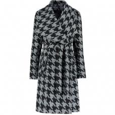 Abrigo De La Creme  - Abrigo con cinturón ceñido de invierno para mujer  en color Negro