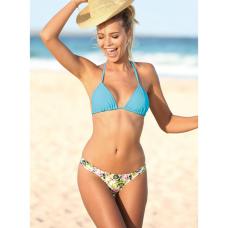 1f1cf262 Venca Braga de bikini combinable estampada con fruncidos en los costados  estampado blanco 48