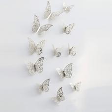 rosegal 12pcs 3D Butterflies Hollow DIY Home Decor Wall Sticker