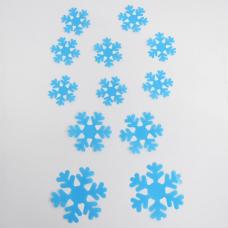 rosegal 12PCS Creative 3D Snowflake Shape Plastic Wall Sticker For Kindergarten Children's Bedroom