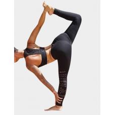 Yoins Activa corte hueco diseño elástico cintura deportes polainas  SKU704794 US 2|US 4|US 6|US 8