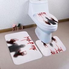 rosegal 3 Pieces Gothic Shadow Antislip Bathroom Mats Set